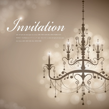 christmas invitation: Luxury Chandelier background 07