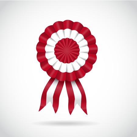 Escarapela, bandera de Perú, ilustración vectorial