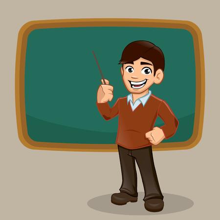 Teacher, professor school, vector illustration