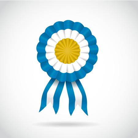 Cockade argentina light blue, vector illustration