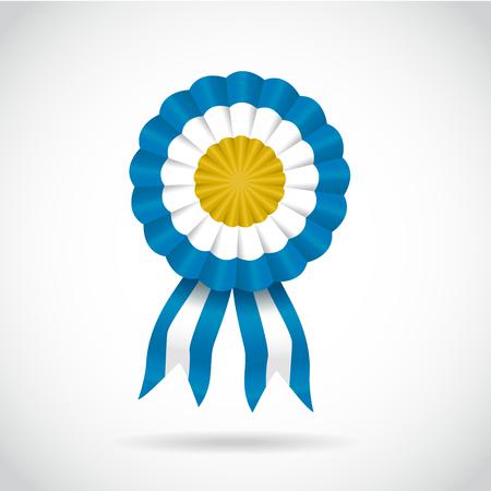 Cockade argentina light blue, vector illustration