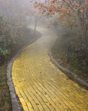 Yellow brick road, Beech Mountain, North Carolina