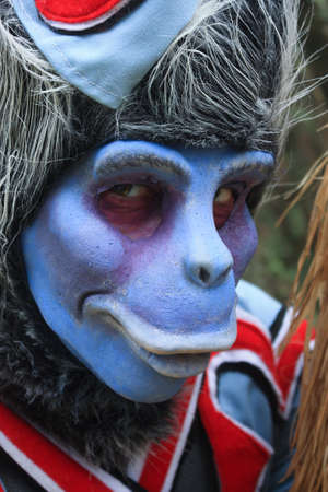oz: Person dressed as a flying monkey at The Land of Oz, Beech Mountain, North Carolina   Editorial