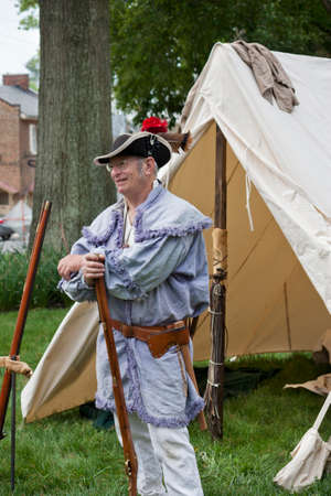 Warrenton, Virginia, USA-May 10, 2014  Living historian participating in the War of 1812 Commemoration in Warrenton, Virginia