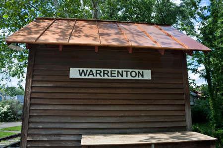 Warrenton Sign in Warrenton Virginia, USA