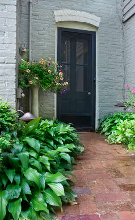Garden path leading to door in Culpeper, Virginia