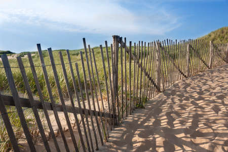 Beach fence at Head of the Meadow in Truro, Massachusetts on Cape Cod