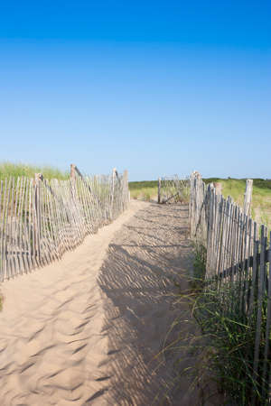 Path leading to beach at Head of the Meadow in Truro, Massachusetts on Cape Cod