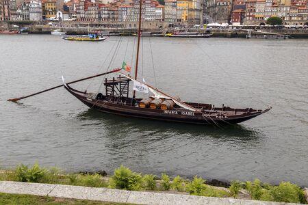 douro: barge on the river Douro opposite Porto
