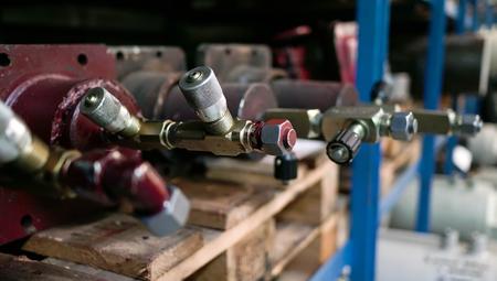 Blue Red Screw Shelfs Wood Factory Tools