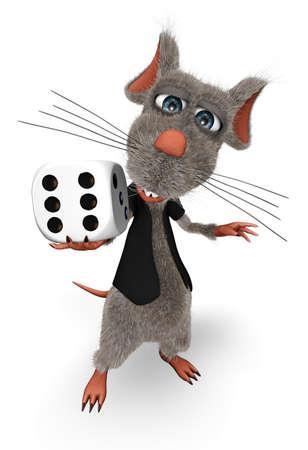 Cartoon Rat - Animated Show Fun 3D Character 스톡 콘텐츠