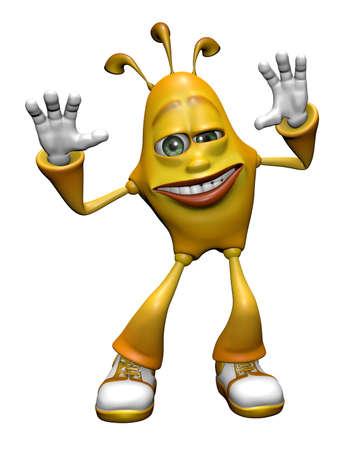 Fun Emotion Man - 3D illustration Character