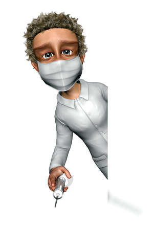 Doctor Man - Cartoon 3D Charater