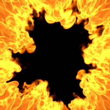 Burning Portal - 3D illustration Cartoon Fire