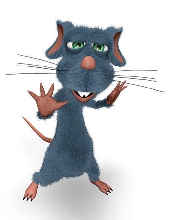 Happy Rat - Animated Fun 3D Character