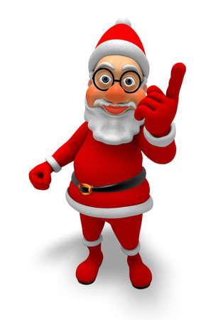 Fun Cartoon Santa - Happy 3D Character