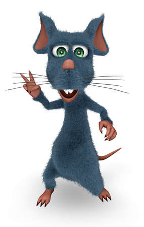 Happy Rat - Animated Fun 3D Character