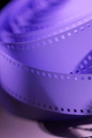 unprocessed: 35 mm unprocessed film for cinematography Stock Photo