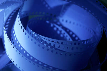 postproduction: 35 mm unprocessed film for cinematography Stock Photo