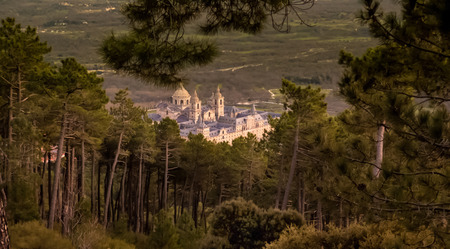 priest's ritual robes: View El Escorial Stock Photo