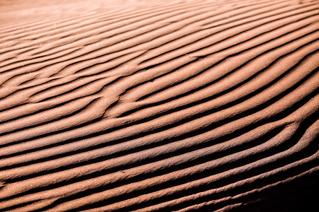 whim: Beautiful sand ripples on the whim of the wind Stock Photo