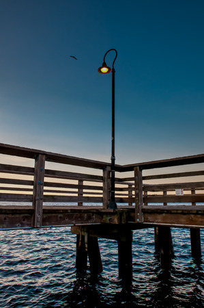 elliot: Detail of a sunrise from a small pier Stock Photo