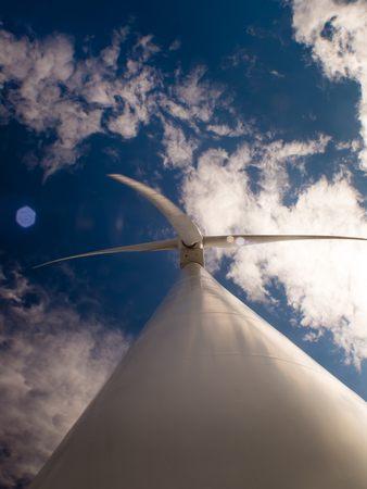 windfarms: Tower wind energy fully operational, view from below