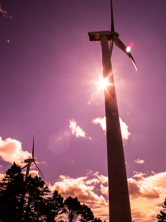 nonpolluting: Wind energy, new source of clean energy and nonpolluting Stock Photo