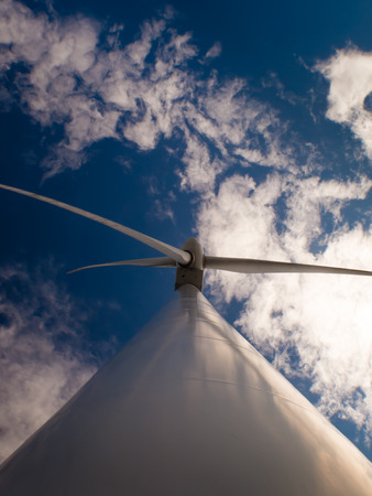 operational: Tower wind energy fully operational, view from below