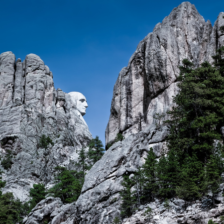 mount rushmore: Photography from the famous Mount Rushmore Stock Photo