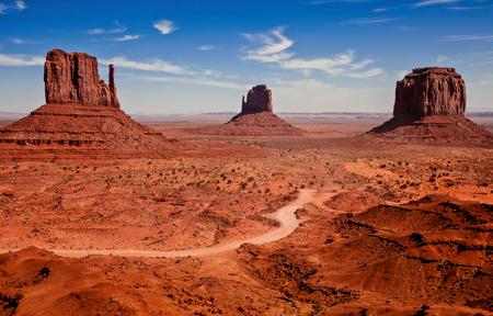 Photographs of famous Monuments Valley National Park Foto de archivo