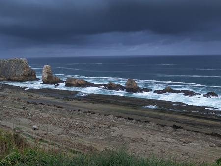 dyllic: Lovely Photograph, La Arnia Beach. Costa Quebrada. Santander Stock Photo