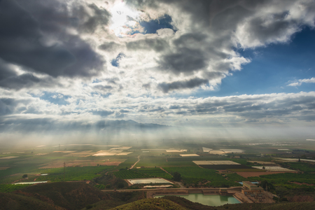 murcia: Viewpoint in height fields cultivated in Murcia, Spain Stock Photo