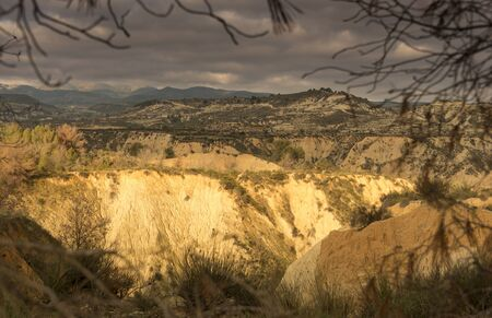 inhospitable: Landscape ravine Gebas, Murcia, Spain.