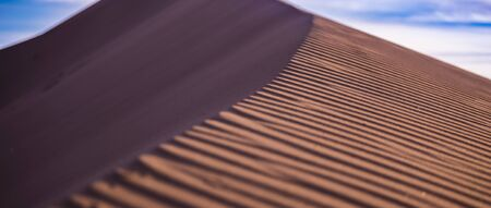 whim: Beautiful ripples on the sand whim of the wind Stock Photo