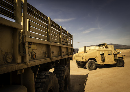 armored truck: Off-road truck and Humvee, two vehicles designed for war