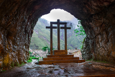 covadonga: From inside the holy cave of Covadonga