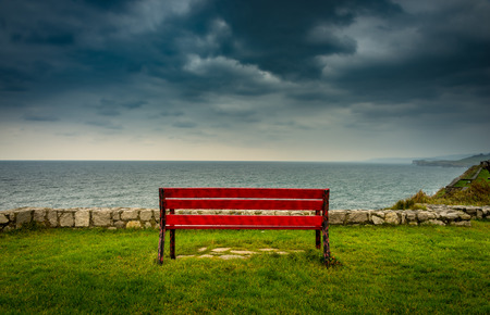 privileged: Privileged place to contemplate the sea and the storm is nearby
