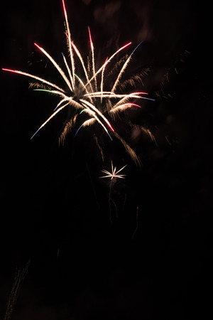 dinamita: Traditional fireworks lighting up in a magical night