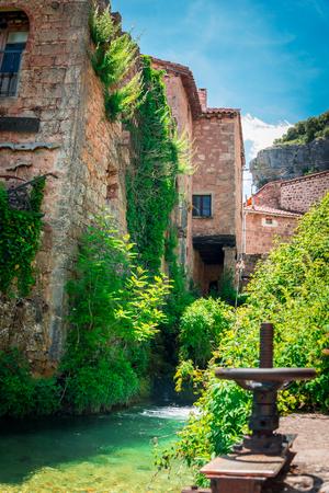 ebro: Streets of Orbaneja del Castillo.Burgos.Spain