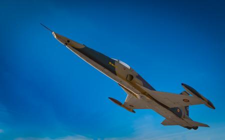 Fighter aircraft Northrop F-5A in full flight