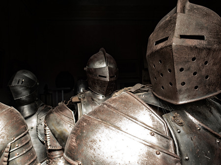 Ancient armor of knights, corresponding to another age