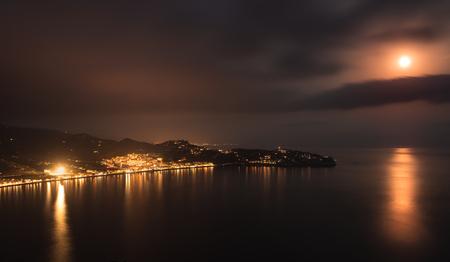 Night in the Bay of La Herradura, Granada.Andalusia,Spain