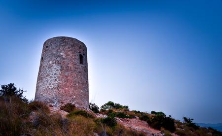 Viewpoint Cerro Gordo Tower.Granada.Spain.