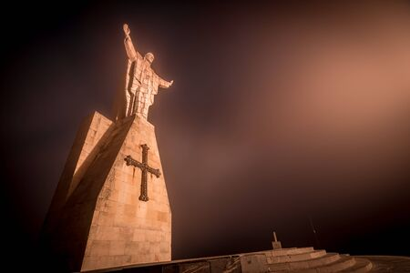 Christ of the Sacred Heart of Jesus, the watchman of Oviedo Stock Photo