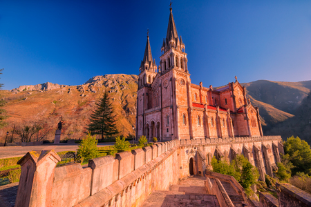 Sanctuary of Covadonga.Asturias.Spain. Stock Photo