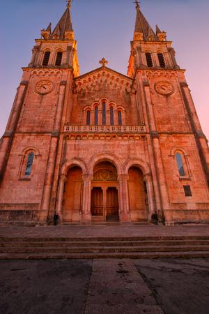Sanctuary of Covadonga.Asturias.Spain. Stock Photo