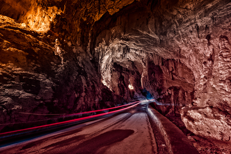 Through this cave is the only access to the village of Cuevas del Agua, Asturias.Spain.