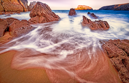 Arnia beach,magic beach.Santander.Cantabria.Spain.