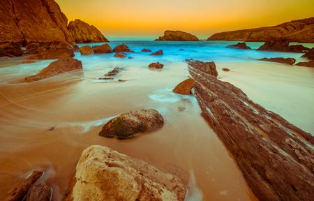 Arnia beach,magical beach.Santander.Cantabria.Spain.